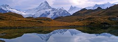 Switzerland, Bernese Alps, Double-Schreckhorn (Eifeelgood) Tags: autumn mountains fall water reflections schweiz switzerland bestof suisse earth swiss magic herbst favorites places selection best alpine silence alpen myfavorites berner indiansummer alpin berneroberland schreckhorn bachsee magicplaces alpinemountains eifeelgood
