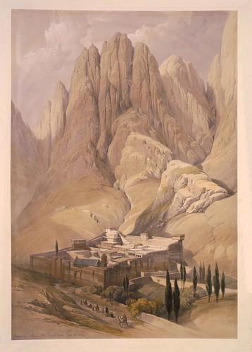 008-Convento de Sta. Catalina con el Monte Horeb al fondo