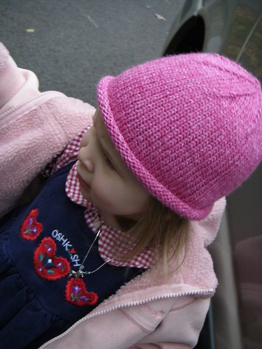 knitted roll brim hat