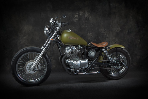 Green Honda Rebel 250 Bobber