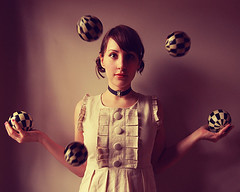 (Elle Moss) Tags: girl self dress elle juggling juggler
