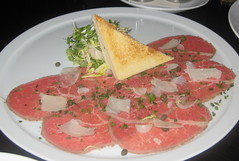 Brand Steakhouse in Las Vegas - Kobe Carpaccio with truffle butter toast