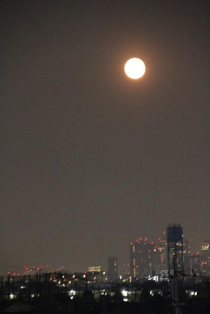 月と新宿副都心