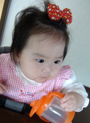 Miyu with her new hair clip