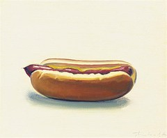 Wayne Thiebaud, Hot dog with mustard, 1964, Sold for $1,385,000 at Christie's November 12 2007