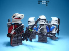 Whiskey Squad (jestin pern) Tags: world fiction trooper water star lego space science company corps planet fi wars aquatic squad clone yankee sci legion upon endowment 457th 707th manaan