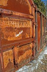 McLean's_0149 (janetliz) Tags: old winter cars rusty scrapyard tpmg sanitationtruck mcleans
