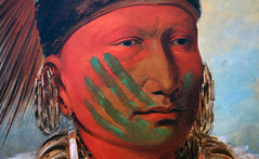 George Catlin, The White Cloud, Head Chief of the Iowas (detail of face), 1844-45