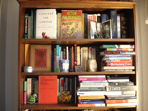 the (top half of the) bookcase