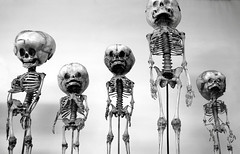 Hydrocephalics (Prof. Jas. Mundie) Tags: blackandwhite bw paris france monochrome monster museum skeleton 5 monochromatic exhibit collection medical health freak ana