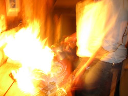 Cake Fire Garlic Arm