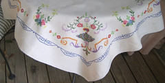 Vintage Tablecloth - Embroidered