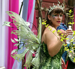 Queen of the May, Posie Fairy (On Gossamer Wings) Tags: wedding costume wings handmade unique recital fairy flowergirl custom gossamer faerie posie on fairywings faeriewings photographyprop faerywings queenofthemay spoutwood adultcostume ongossamerwings wingmaking adultfairywings