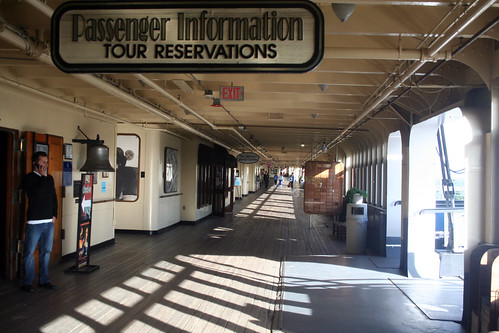 Passenger Information on the Promenade Deck
