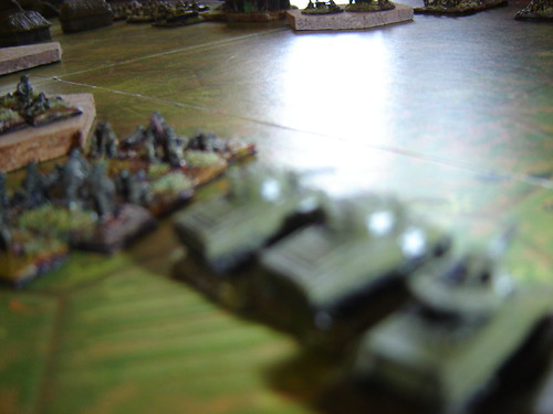 American armour prepares for advance - Battle of Phosphate Plant
