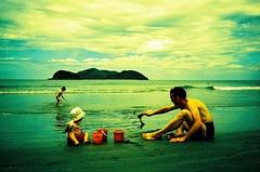 Beach Crew #2 (mm-j) Tags: brazil xpro scan contax velvia february 50 2008 t2 scanfromslide barradosahy mostaretoocrazytoputupanyoneelsewithcrazyresultsseasun radicalxprocoloursfromvelvia