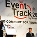 Kevin Rudd launching SmartTrans EventTrack while Bryan Carr and Alex Ing sit on the panel