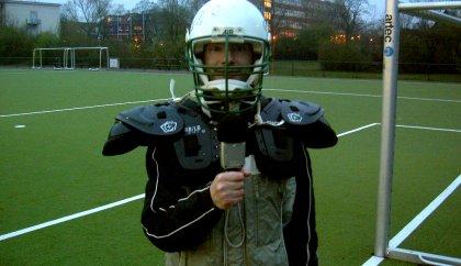 Stefan als Footballer