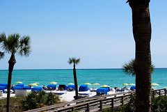 The private beach at Longboat Key Club