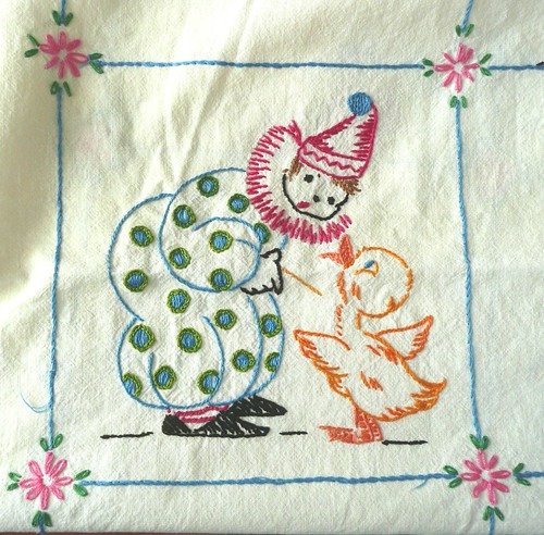 Clown and Duck Embroidery