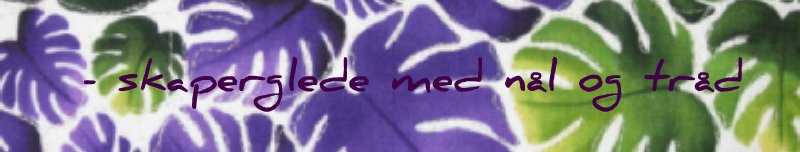 - skaperglede med nål og tråd