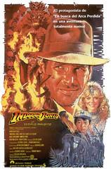 Poster Indiana Jones y el templo maldito Steven Spielberg