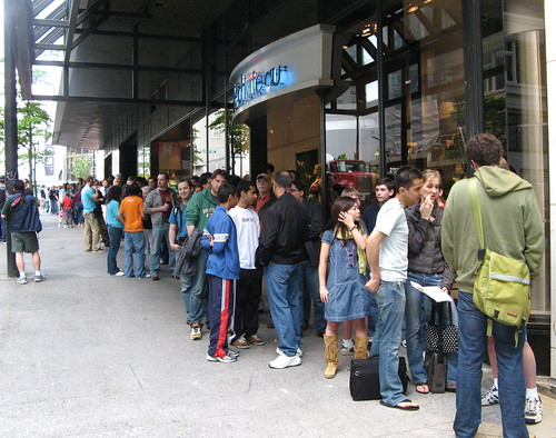 The Line Outside at about 9:45