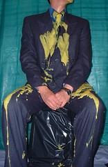 Getting Covered (splishsplash1123) Tags: messy wam gunge suitandtie