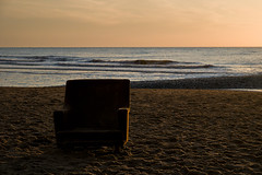 Have A Seat (Philipp Klinger Photography) Tags: sunset sea beach water sand waves seat north philipp klinger dcdead