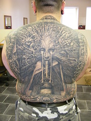 Giger back piece fully healed for Staz Johnson (ian.mcrob) Tags: mirrorimage rotherham hrgiger guytinsley madcreaturecreations