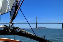 Nice rigging.  Why thank you. (JonBauer) Tags: ocean sanfrancisco wood sailboat bay boat catalina nikon pacific sheets trinity baybridge sail rigging d300 18200mmf3556gvr catalina30