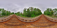 Railroad Panorama (fpsurgeon) Tags: railroad travel panorama florida traintracks immersive railways hdr 360x180 360 csx sigma1020mm hugin equirectangular perfectpanoramas enfuse