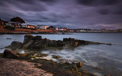 Sandycove, County Dublin, Ireland (jogorman) Tags: ocean county longexposure ireland sunset sea dublin irish seaweed beach water clouds coast moss rocks stormy eire sandycove dunlaoghaire dunlaoire jamesogorman glasthule