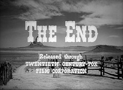 THE END (Dill Pixels) Tags: bw cinema classic film movie screenshot theend hollywood western title monumentvalley titles endtitles johnford theoldwest mydarlingclementine