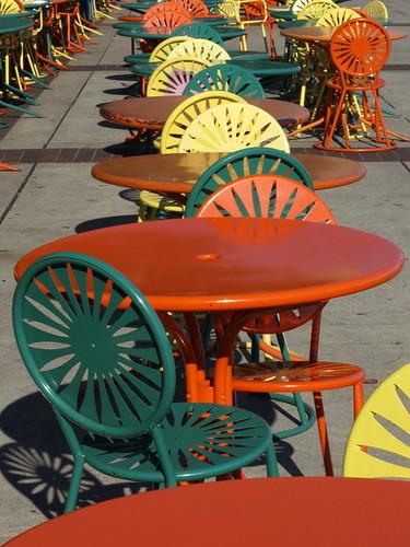 Sunburst Chairs on the Terrace