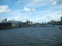 Such a pretty sky (GloKo) Tags: city bridge blue england sky london water thames clouds towerbridge river nuvole blu turquoise cielo azzurro