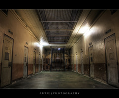 The Adelaide Gaol | A-Wing Prison Cell - HDR (:: Artie | Photography ::) Tags: stairs photoshop canon dark cs2 tripod kitlens australia creepy prison morbid adelaide 1855mm southaustralia efs hdr artie prisoncell 3xp photomatix tonemapping tonemap adelaidegaol 400d rebelxti