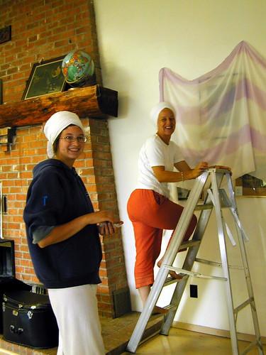 Khalsa Ladies Camp Retreat 2003 - Set-up Guru Kirn & Bachan