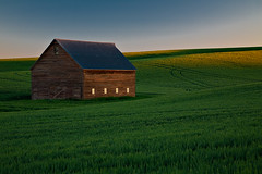 First Light, Old Barn (KPieper) Tags: barn sunrise landscape washington wheat grain hills fields palouse whitmancounty kevinpieper kpieper pieperphotographynet palousescenicbyway waspecf