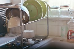 clean kitchen; new dish drainer from ikea
