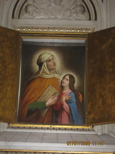 Saint Anne et la petite Virege Marie dans images sacrée