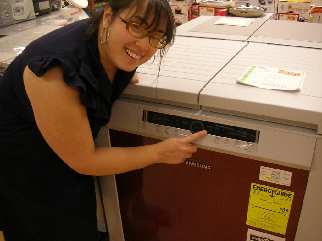 Gillian with a Kimchi refrigerator