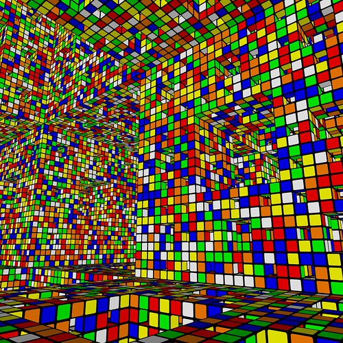 Menger and Rubik in Disco Valley, blind drunk