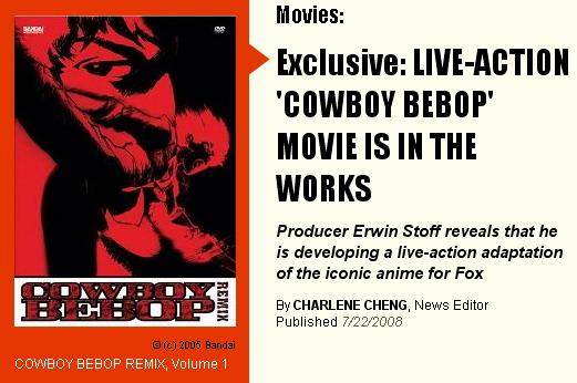 081218 - 當完外星人之後想當牛仔:基努李維親自表示希望出演好萊塢真人版電影『COWBOY BEBOP』男主角史派克