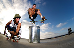 Trash can sesh (jgrubbsphoto) Tags: brad colin trash can ollie skateboard