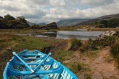 Killarney National Park (Mirjam75) Tags: blue ireland lake landscape boat nationalpark lakes killarney ierland rowingboat