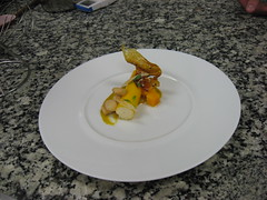 French Culinary Institute: Roasted sesame bavarois with a tasting of mango