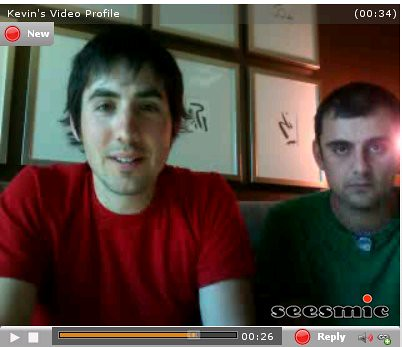 Kevin Rose and Gary Vaynerchuk on Seesmic