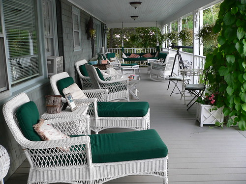 Back porch, the Inn at Bay Ledge
