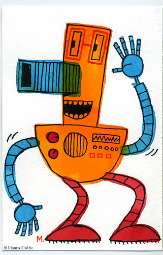 robot #13 by fragmented.
